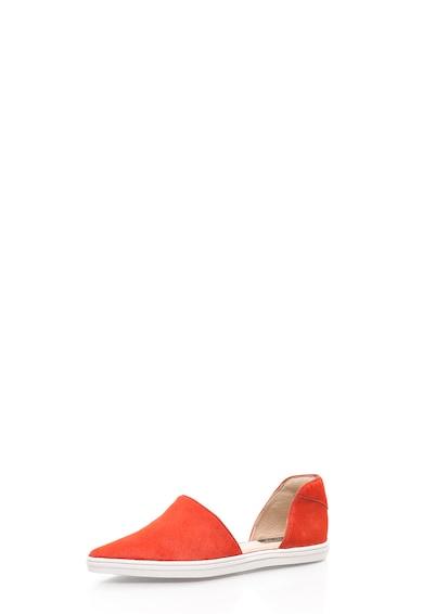 Rachel Zoe Espadrile corai din piele cu par scurt Camden Femei