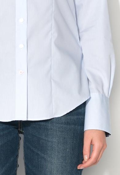 Vincenzo Boretti Camasa modern fit albastru foarte deschis cu guler Kent Femei