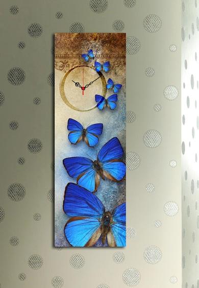 Clockity Wallity Ceas de perete cu imprimeu cu fluturi' to 'Tablou canvas Cock Art, 30 x 90,  Fluturi Femei