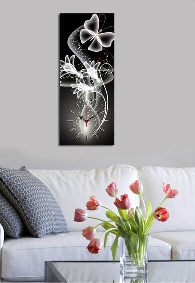Clock Art Ceas de perete negru cu alb Femei