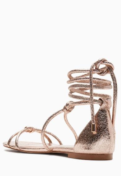 NEXT Sandale aurii de piele sintetica Femei