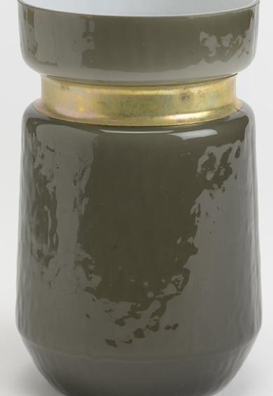AMADEUS Vaza gri inchis cu insertie de cupru - 700 ml Femei