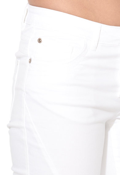 Big Star Pantaloni slim fit crop albi Merida Femei
