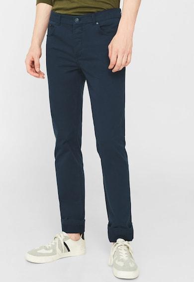 Mango Pantaloni drepti bleumarin Pisa Barbati