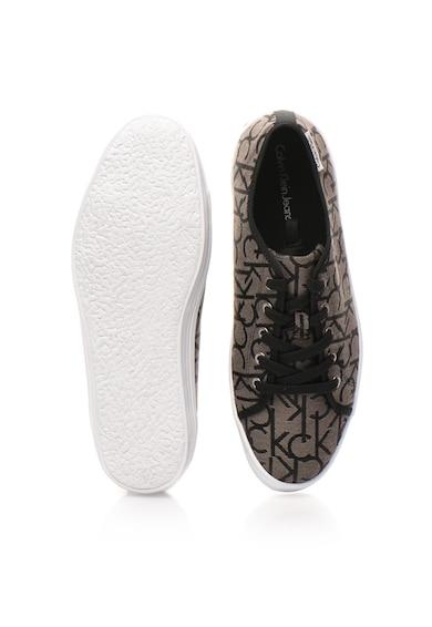 Calvin Klein Tenisi gri inchis si negru cu model logo Orazio Barbati