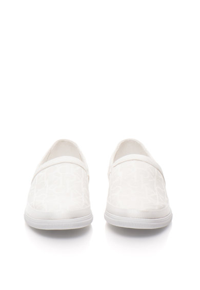 Calvin Klein Jeans Pantofi slip-on albi cu model logo Ulf Barbati