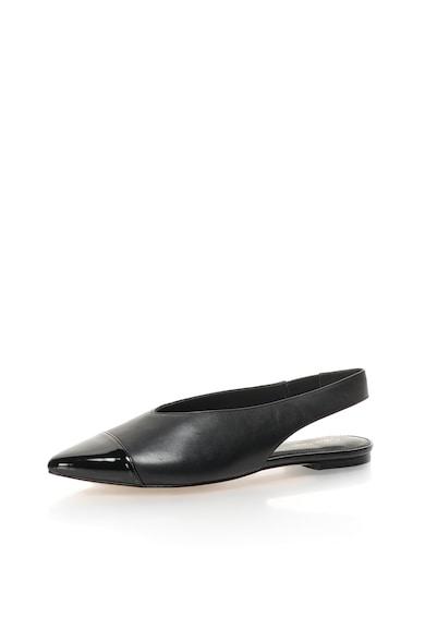 Calvin Klein Sandale slingback negre cu varf ascutit Alannah Femei