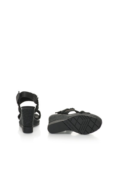 Calvin Klein Jeans Sandale wedge tip espadrile negre Lael Femei