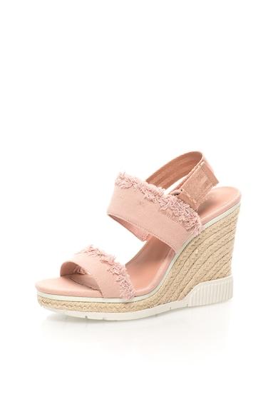 Calvin Klein Jeans Sandale wedge roz prafuit de panza Lael Femei