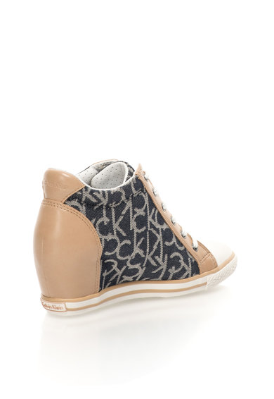 Calvin Klein Jeans Pantofi sport wedge inalti multicolori cu platforma ascunsa Vero Femei