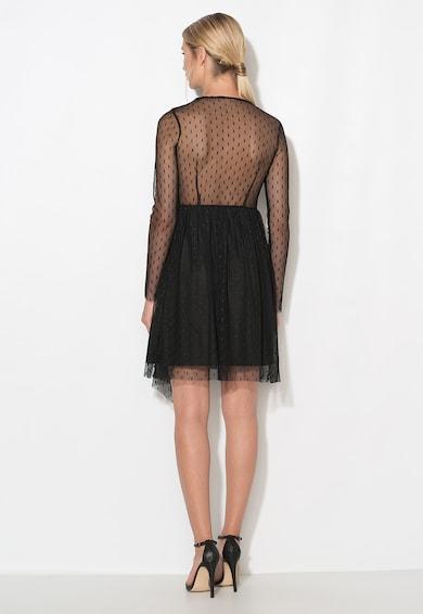 Zee Lane Collection Rochie neagra din plasa cu buline Femei