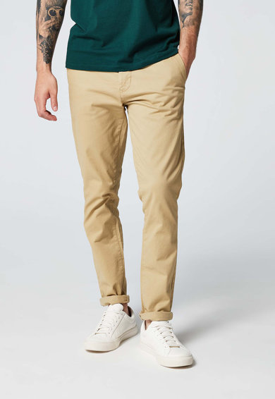 NEXT Pantaloni chino elastici bej deschis Barbati