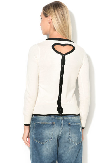 Love Moschino Cardigan tricotat fin cu decupaj in forma de inima Femei