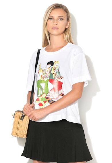 Love Moschino Tricou cu imprimeu emblematic Femei