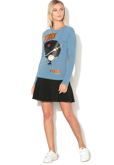 Love Moschino Bluza cu imprimeu cauciucat Femei