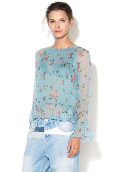 Pepe Jeans London Bluza transparenta cu imprimeu floral Arie Femei