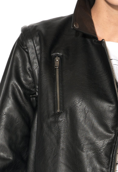 Pepe Jeans London Jacheta biker de piele sintetica Femei