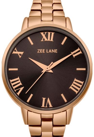 Zee Lane Ceas rotund cu display analog, Auriu rose Femei