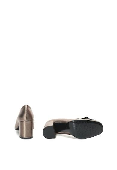 Tosca Blu Pantofi de piele cu toc masiv si detaliu metalic Femei