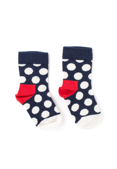 Happy Socks Set de sosete cu dungi si buline - 2 perechi Fete