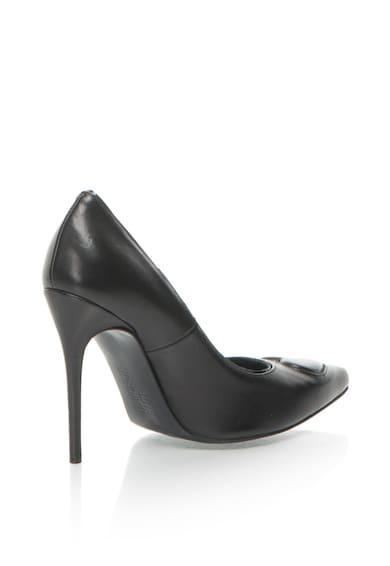 Love Moschino Pantofi de piele cu varf ascutit si aplicatie in forma de inima Femei