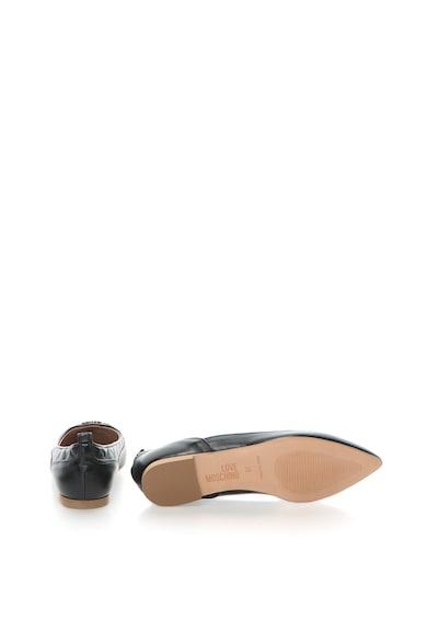 Love Moschino Balerini de piele sintetica cu varf ascutit si detalii matlasate Femei