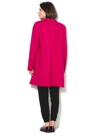 United Colors of Benetton Gyapjú Tartalmú Kabát Zipzárral & Patentokkal női