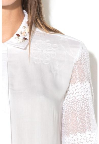 DESIGUAL Camasa cu maneci din plasa brodata Francia Femei
