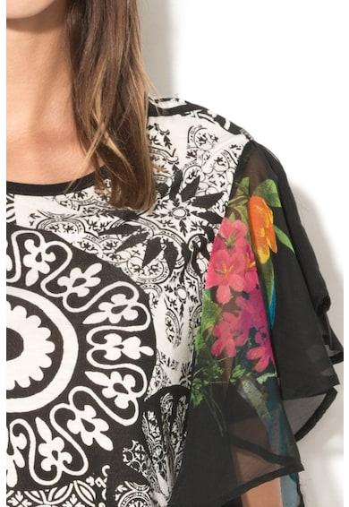 DESIGUAL Bluza cu volane pe maneci Yovanna Femei