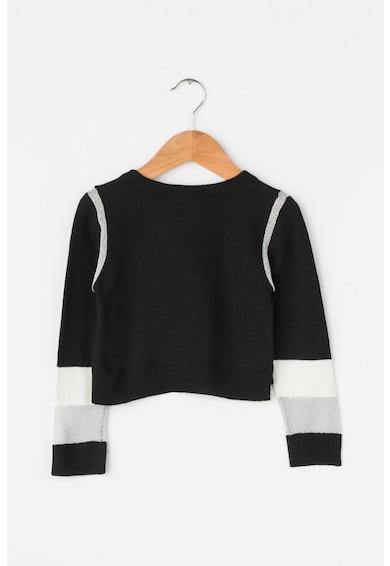 Frankie Morello Junior Pulover crop tricotat fin cu insertii de lurex Tara Fete