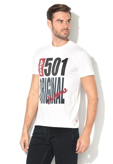 Levi's Tricou cu imprimeu si decolteu la baa gatului 501® Barbati