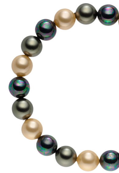 Zee Lane Bratara elastica din perle organice Femei