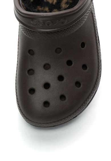 Crocs Papuci slingback de cauciuc cu blana sintetica Femei