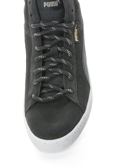 Puma Pantofi sport inalti de piele intoarsa cu garnituri din material textil 1948 Barbati