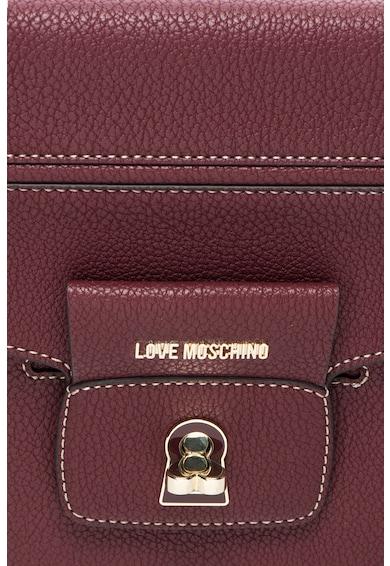 Love Moschino Geanta de mana din piele sintetica cu buzunar frontal cu clapa Femei