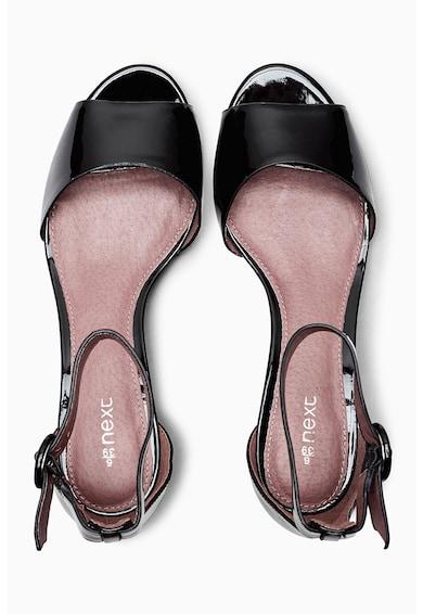 NEXT Sandale de piele sintetica cu talpa wedge joasa Femei