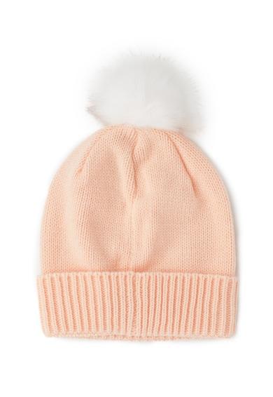 Converse Caciula elastica tricotata cu un ciucure de blana sintetica Femei