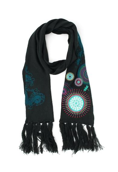DESIGUAL Esarfa tricotata cu mandale brodate Eclipse Femei