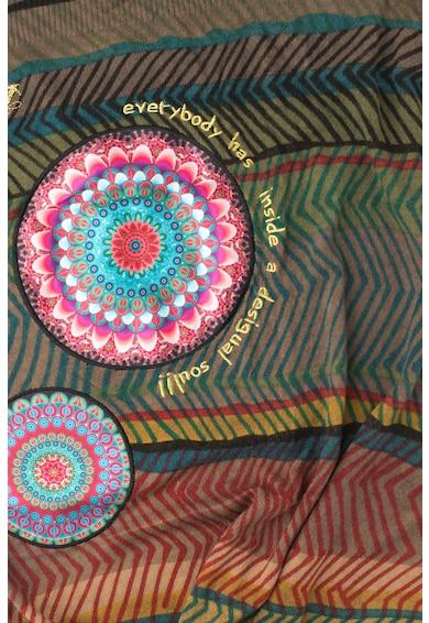 DESIGUAL Esarfa tricotata fin cu model geometric Femei