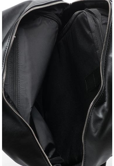 Solier Rucsac de piele sintetica cu buzunar pentru laptop Barbati