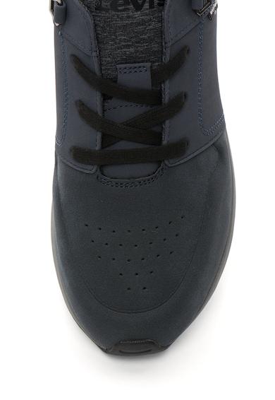 Levi's Pantofi sport de piele nabuc sintetica cu design perforat Barbati