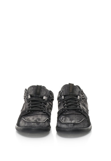 Diesel Pantofi sport cu garnituri de piele intoarsa si aspect de denim S-Tage Barbati